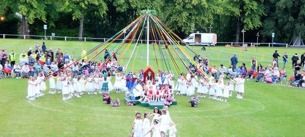 The famous Bournville Festival Maypole Dance.
